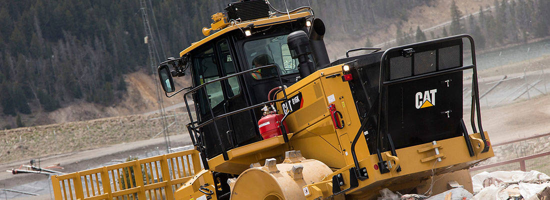 CAT® 816K LANDFILL COMPACTOR DESIGNED FOR OPTIMUM COMPACTION PERFORMANCE, LOW-COST OPERATION, AND MULTIPLE-LIFE SERVICE